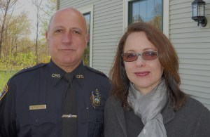 Jessica with Lt. Macone
